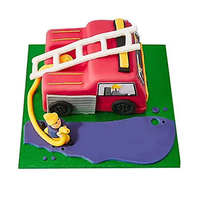 Fire Engine Fondant Cake Chocolate