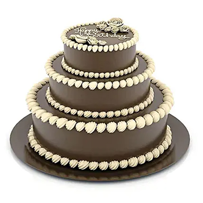 3 Tier Delicious Truffle Cake