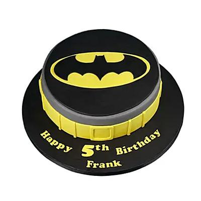 Batman Symbol Cake