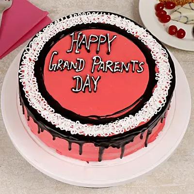 Grand Parents Day Vanilla Cake