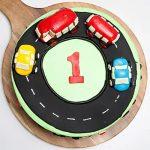 Race Track First Birthday Vanilla Cake