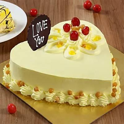 Heart Shaped Butterscotch Cake- Half Kg