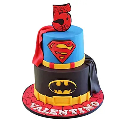 Batman N Superman Cake