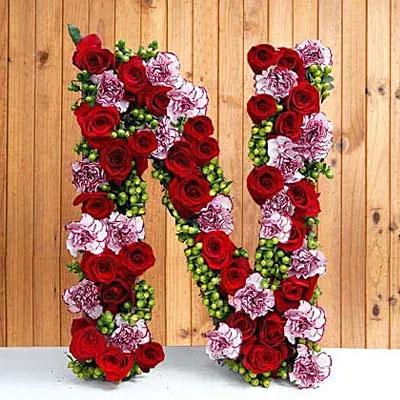 Personal Alphabet Budding Love