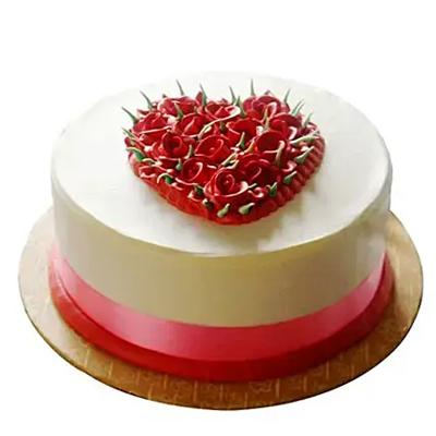 Desirable Rose Cake