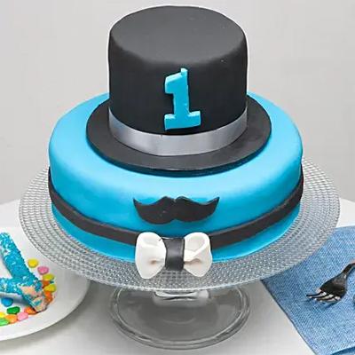 Moustache And Hat Birthday Chocolate Truffle Cake