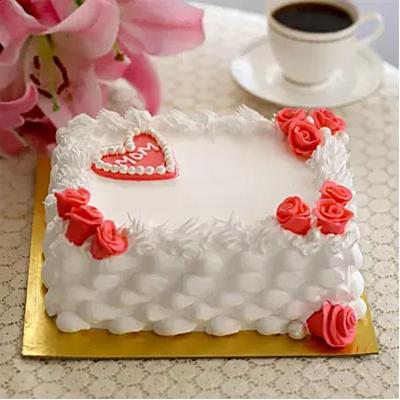 Roses & Heart Pineapple Cake