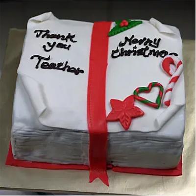 Xmas Theme Fondant Truffle Cake