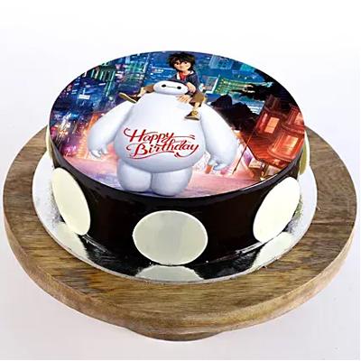 Big Hero Chocolate Photo Cake