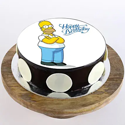Simpsons Chocolate Photo Cake