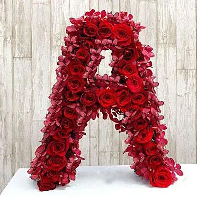 Personalized Floral Alphabet