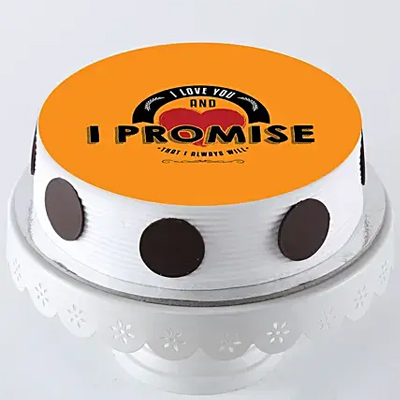 Promise To Love You Photo Cake- Pineapple