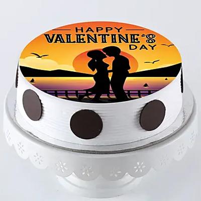Valentine's Day Photo Cake- Pineapple
