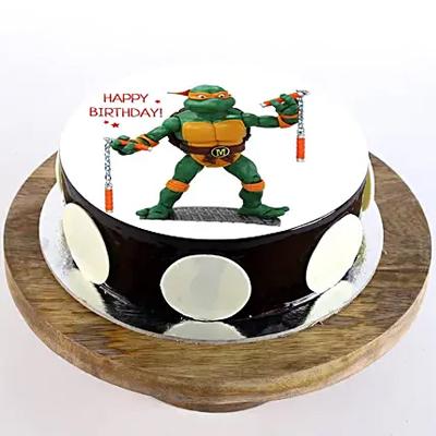 Michaelangelo Chocolate Photo Cake