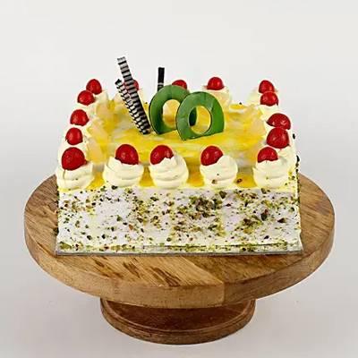 Cream Drop & Cherry Pineapple Cake- Half Kg