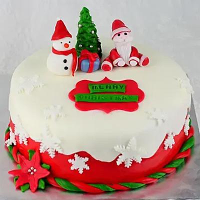 Xmas Themed Truffle Cake