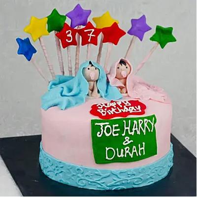 Starry Truffle Fondant Cake