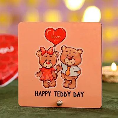 Happy Teddy Day Table Top