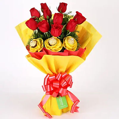 Roses N Chocolates Delight