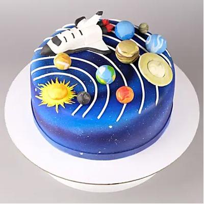 Solar System Truffle Fondant Cake