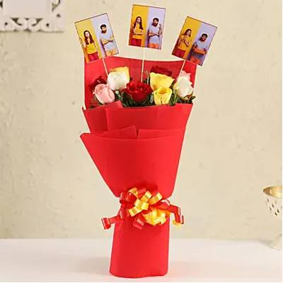 Beautiful Personalised Roses Bouquet