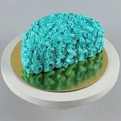 Fantasy blue half cake