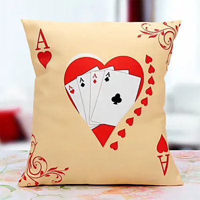 Ace of the Hearts cushion