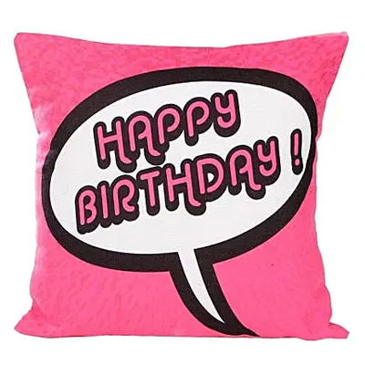 Pink Birthday Cushion