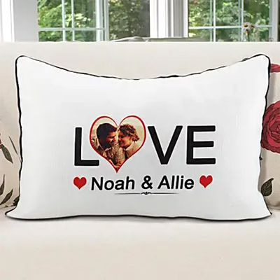 Personalized Pillow Cover White