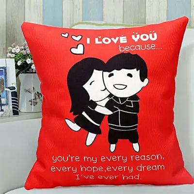 Red Hug cushion