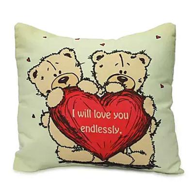 Cute Teddy With Message Cushion