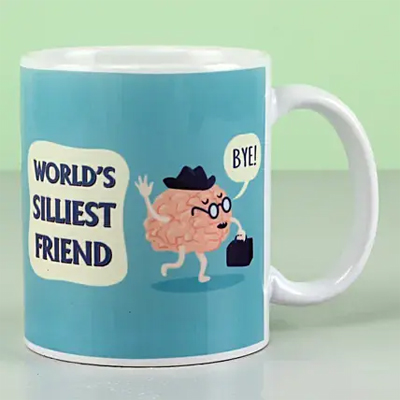 World's Silliest Friend Funky Mug