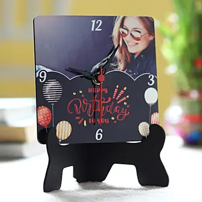Personalised Birthday Wishes Table Clock