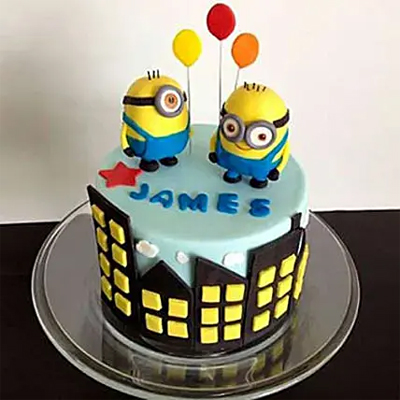 Minions with balloons Chocolate