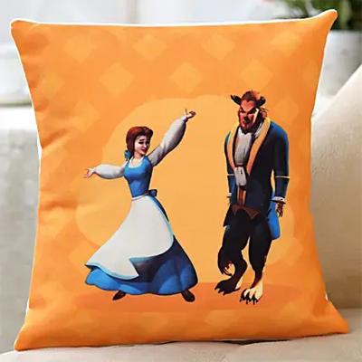 Beauty & Beast Printed Cushion