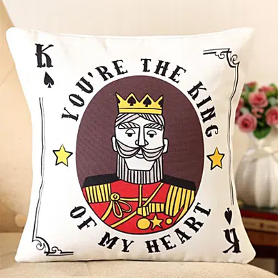 You're The King Printed Cushion