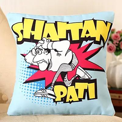 Shaitan Pati Printed Cushion