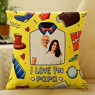 I Love You Papa Personalised Cushion