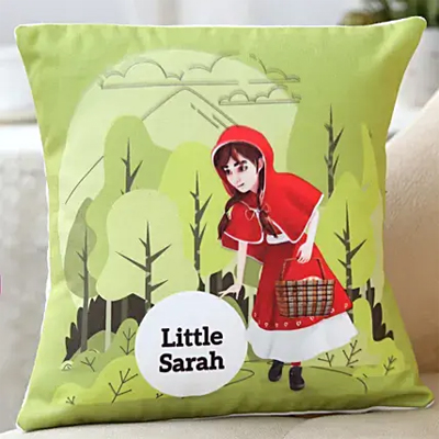 Red Riding Hood Personalised Cushion
