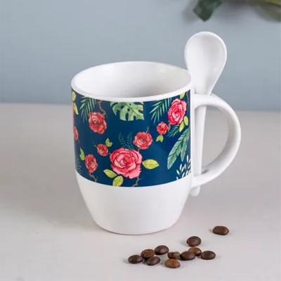 Misty Morning Spoon Mug Blue
