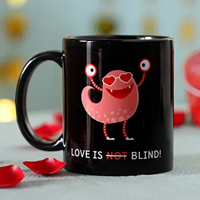 Quirky Love Is Blind Mug