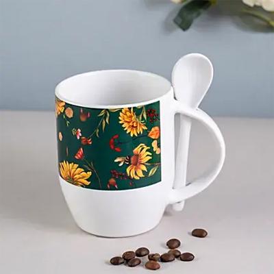 Floral Bliss Spoon Mug Green