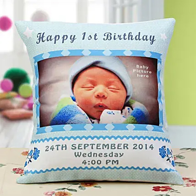 Baby Announcement Personalized Cushion