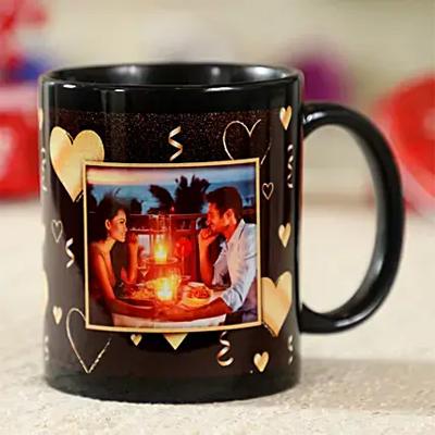 Gorgeous Black Personalised Mug