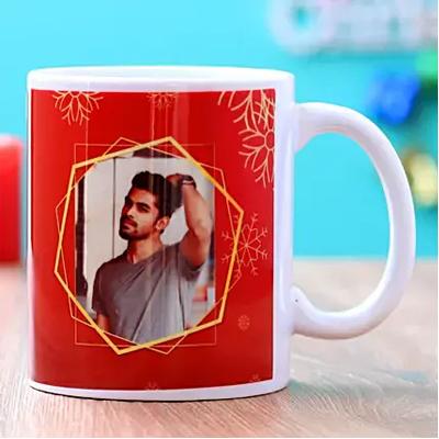 Frosty Christmas Personalised Mug