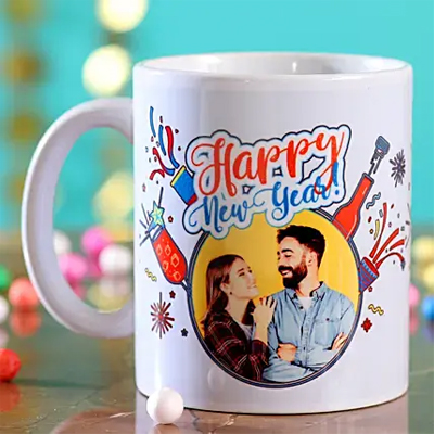 Personalised Picture Happy New Year Mug