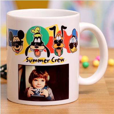 Disney Summer Crew Personalised White Mug