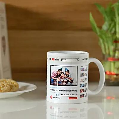 Personalised YouTube Birthday Mug