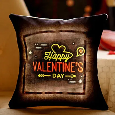 Valentine's Greetings LED Cushion