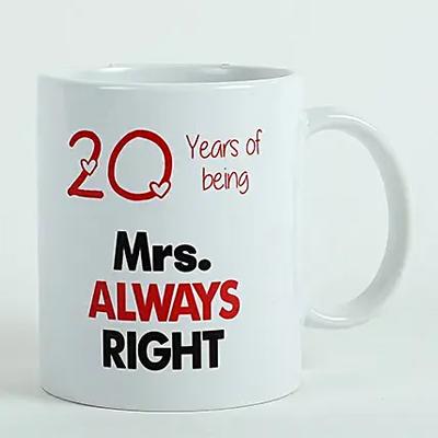 Personalised Mrs Right Mug